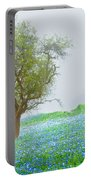 Bluebells Portable Battery Charger by Debra and Dave Vanderlaan