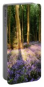 Bluebells In Shadows Portable Battery Charger