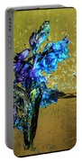 Bluebells In Water Splash Portable Battery Charger