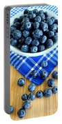 Blueberries And Blue Napkin Portable Battery Charger