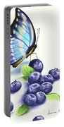 Blueberries And Butterfly Portable Battery Charger