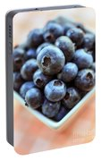 Blueberries Closeup Portable Battery Charger