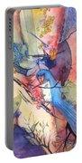 Bluebird And Butterflies Portable Battery Charger