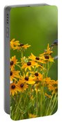 Bluebird Flying Over The Black Eyed Susans Portable Battery Charger