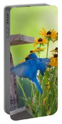 Bluebird Flying Thru Black Eyed Susans Portable Battery Charger