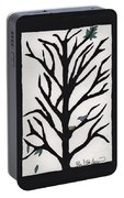 Bluebird In A Pear Tree Portable Battery Charger