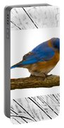 Bluebird In Prairie Frame Portable Battery Charger