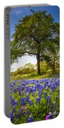 Bluebonnet Meadow Portable Battery Charger