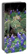 Bluebonnets And Cacti Portable Battery Charger