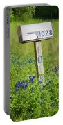 Bluebonnets And Mailbox Portable Battery Charger