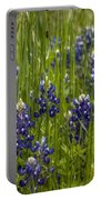 Bluebonnets In The Grass Portable Battery Charger