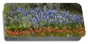 Bluebonnets Paintbrush And Prickly Pear Portable Battery Charger