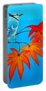 Bluejay In The Fall 2 Portable Battery Charger
