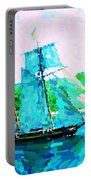Bluenose Schooner In Halifax Portable Battery Charger