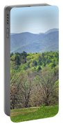 Blueridge Mountains In The Spring Portable Battery Charger