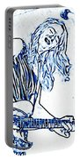 Blues In Blue Portable Battery Charger