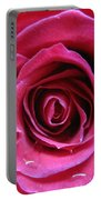 Blushing Pink Rose 3 Portable Battery Charger