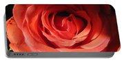 Blushing Orange Rose 3 Portable Battery Charger