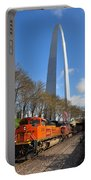 Bnsf Ore Train And St. Louis Gateway Arch Portable Battery Charger