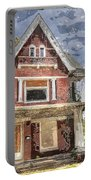 Boarded Up Old Characer Home Watercolor Portable Battery Charger