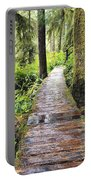 Boardwalk On The Rainforest Trail In Portable Battery Charger