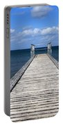 Boardwalk To The Ocean Portable Battery Charger