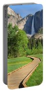 Boardwalk To Yosemite Falls  Portable Battery Charger