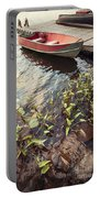 Boat At Dock  Portable Battery Charger