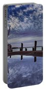Boat At Sunset Portable Battery Charger