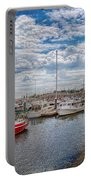 Boat - Baltimore Md - One Fine Day In Baltimore  Portable Battery Charger