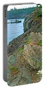 Boat By East Quoddy Bay On Campobello Island-nb Portable Battery Charger