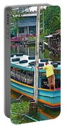 Boat For Transportation On Canals In Bangkok-thailand Portable Battery Charger
