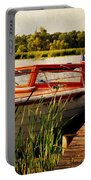 Boat On Lake Portable Battery Charger