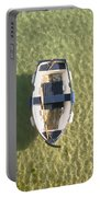 Boat On Ocean Portable Battery Charger by Pixel Chimp