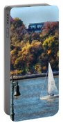 Boat - Sailboat Near Chelsea Pier Portable Battery Charger