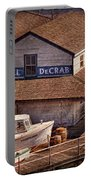 Boat - Tuckerton Seaport - Hotel Decrab  Portable Battery Charger by Mike Savad