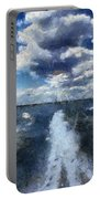 Boat Wake Photo Art 02 Portable Battery Charger