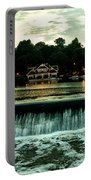 Boathouse Row And Fairmount Dam Portable Battery Charger