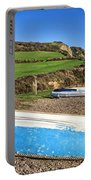 Boats Along Branscombe Beach Portable Battery Charger