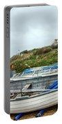 Boats At Burton Bradstock Portable Battery Charger
