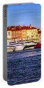 Boats At St.tropez Harbor Portable Battery Charger