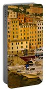 Boats At The Harbor, Camogli, Liguria Portable Battery Charger