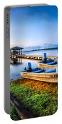 Boats At The Lake Portable Battery Charger