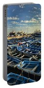 Boats In Essaouira Morocco Harbor Portable Battery Charger