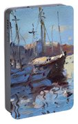 Boats In Mandraki Rhodes Greece  Portable Battery Charger