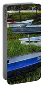 Boats In Marsh - Cape Neddick - Maine Portable Battery Charger
