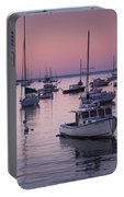 Boats In The Atlantic Ocean At Dawn Portable Battery Charger
