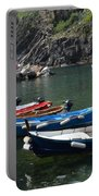 Boats In Vernazza Portable Battery Charger