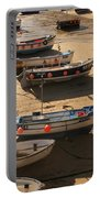 Boats On Beach Portable Battery Charger by Pixel  Chimp