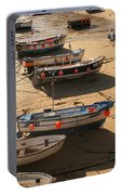Boats On Beach Portable Battery Charger